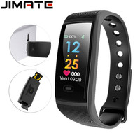 Smart Wristband Heart Rate Monitor Blood Pressure Pedometer Step Counter Fitness Bracelet Color Screen Smartband Sport