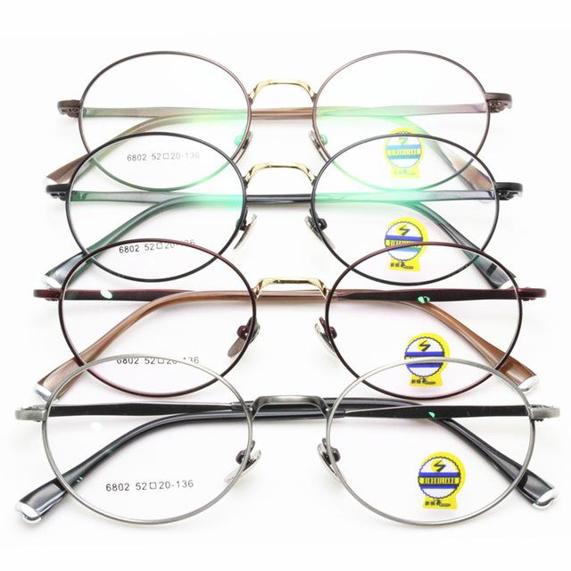 Nueva Edición También Incluidos Lang Fondo Montura de gafas Miopía Restaurar Maneras Antiguas Exceder de Luz de Metal Pequeñas Gafas de Montura Redonda