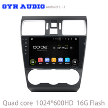 Quad core Android 5.1 Car DVD gps player For WRX 2014-216 with 1024*600 Screen GPS Radio navi Stereo WIFI 3G DVR USB