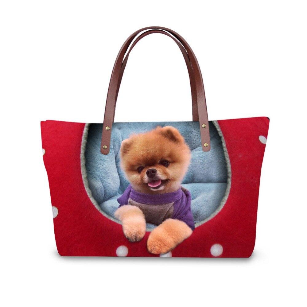 3D Pet animals print ladies handbag women lovely note pattern handbags handbag+messenger bag+purse multifuction bags