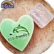 Dolphin Pattern Resin Soap Making Stamp ECO-friendly Clear Natural Organic Stamps Glass Handmade Acrylic Chapters Customize