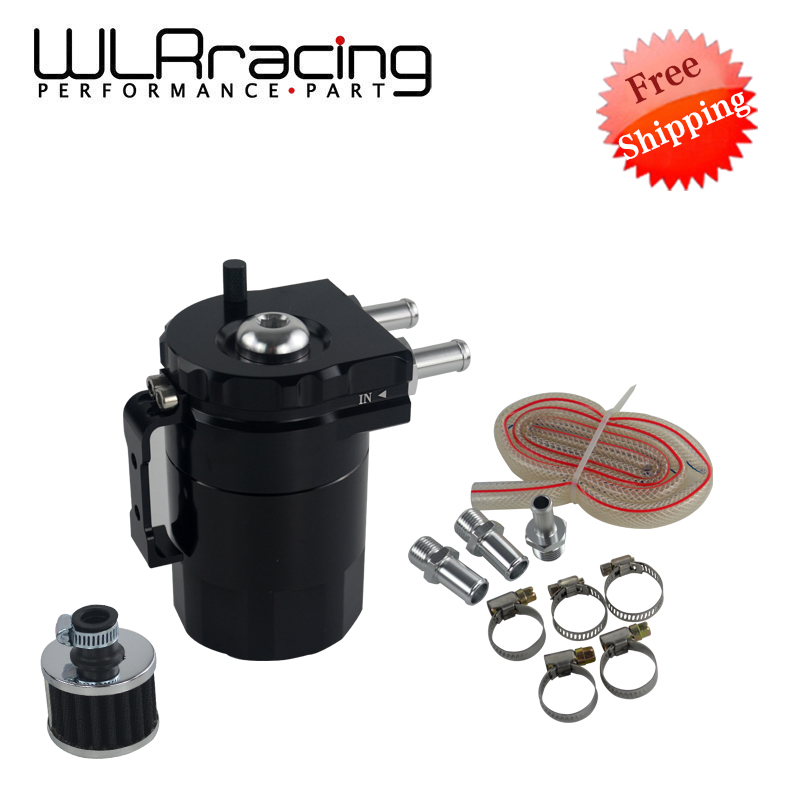 WLR RACING - FREE SHIPPING NEW ARRIVED Baffled Aluminum Universal Oil Tank With Filter / Oil Catch Can Reservoir Tank WLR-TK64 gtb racing baja metal air filter oil tank cover