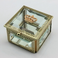 New Wedding Favor Gold Crown Jewelry Box Trinket Box Jewelries Storage Box