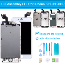 for iPhone 6G 6 6S Plus LCD Touch Screen Display Digitizer Full Assembly Replacement Screen Complete Without Home Button + Tools skylarpu 2 6 inch lcd display screen df1624x fpc 1 re v for garmin edge 810 without backlight without touch free shipping