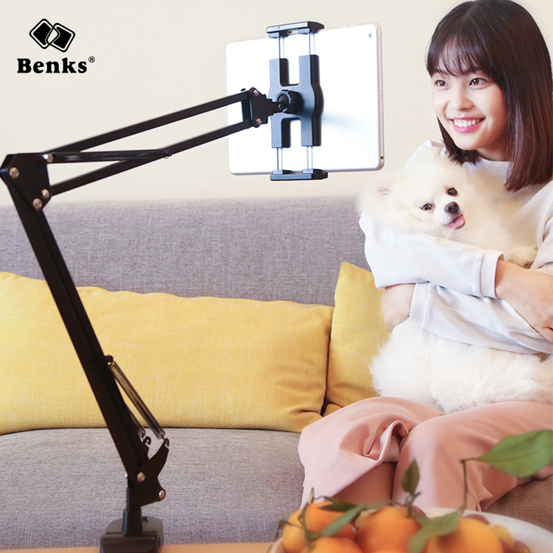 ipad holder for bed benks metal arm universal lazy mount bracket 12771