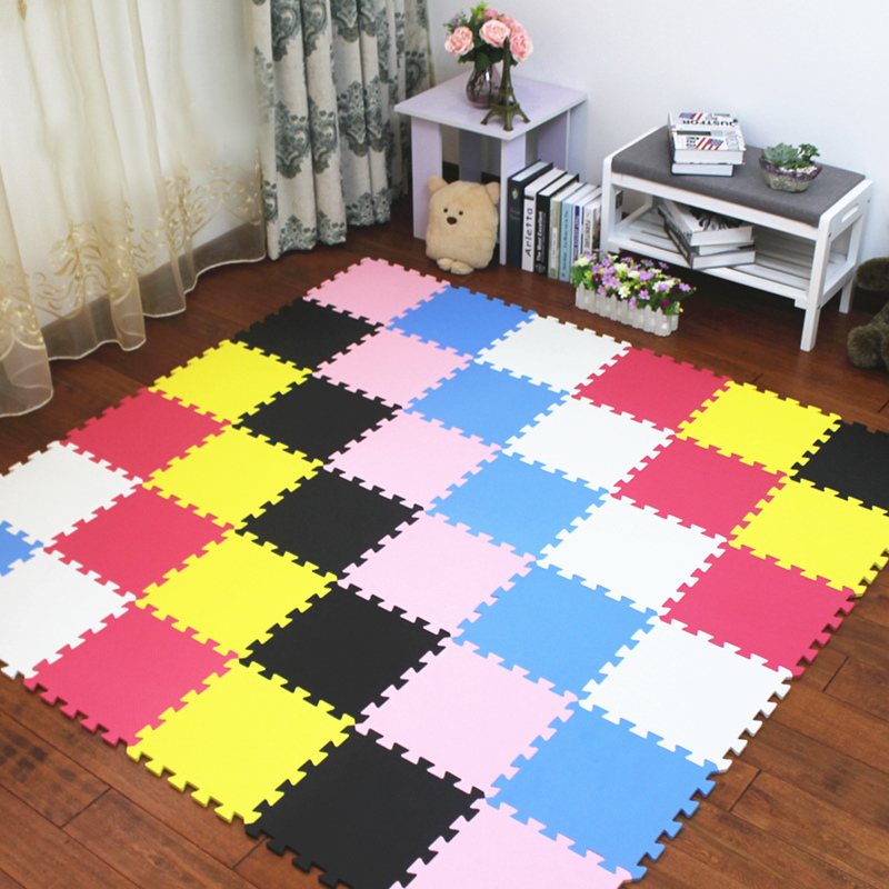 JCC Multicolor Baby EVA Foam Puzzle Play Mat /kids Rugs Carpet  Interlocking Exercise Floor For Children Tiles 30*30*1cm