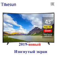 TV 43 inch Tlhesun-u430sf smart tv LED TV Curved TV 43 49 TV Digital television Android 8.0 full HD dvb-t2 UHD TVs smart+tv