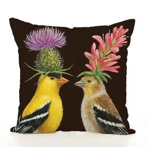 Image 4 - Housse de coussin nordique en lin imprimé animaux, taie doreiller, pour Thanksgiving, pour canapé, voiture, décoration de salon