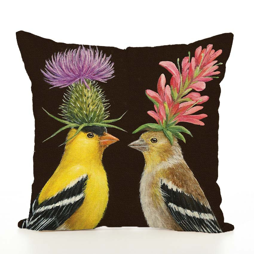 Image 4 - Nordic Cushion Cover Animal Printed Linen Hug Pillowcase Thanksgiving Couch Car Waist Sofa Cushion Cover Living Room Decoration-in Cushion Cover from Home & Garden
