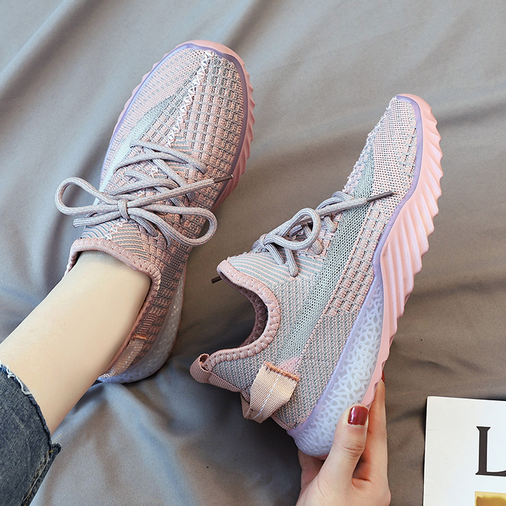 MUQGEW Mixed Colors Flats Sneaker Woman Shoes New Arrival Outdoors Breathable Mesh Flats Sneaker Woman Shoes Chaussures Femme