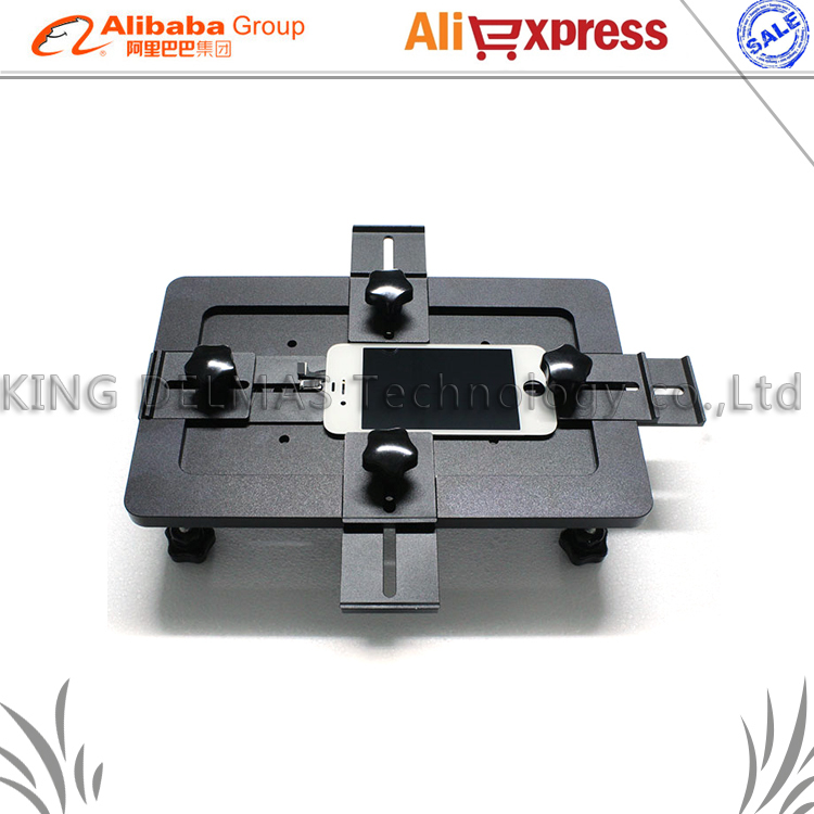 Aluminium alloy Universal phone LCD OCA Laminate Fixture mold Replace LCD UV Glue Mold Mould Glass Holder for iPhone Samsung free shipping precise universal lcd screen position golden fixed mould for iphone samsung sony huawei xiaomi fixture base