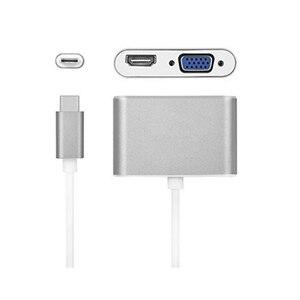 Image 5 - USBC إلى HDMI 4K 30 Hz مهايئ VGA USB 3.1 نوع C USB C إلى VGA HDMI محولات الفيديو محول جديد ماك بوك برو/Chromebook Pix