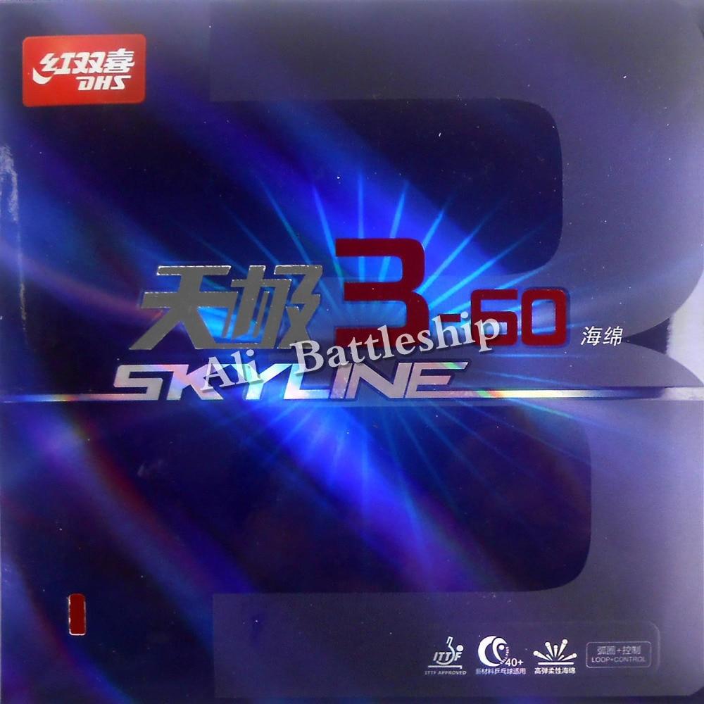 D'origine DHS Skyline 3-60 Pips en Ping-Pong En Caoutchouc Avec L'éponge