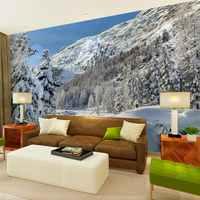 Beibehang schnee landschaft hd natur landschaft foto druck papier papel de parede 3d tapete für wohnzimmer schlafzimmer wand aufkleber