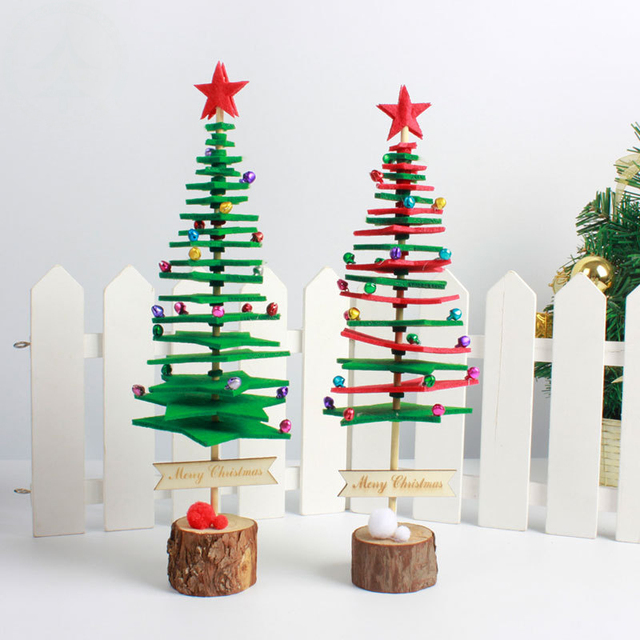 1pc Non Wovens Christmas Tree New Year Children S Creative Gift Diy