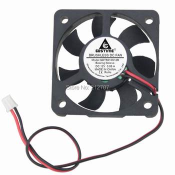 50pcs/set Gdstime 12V 2Pin 5cm 50x50x10 5010 50mm Mini DC Brushless Cooling Fan