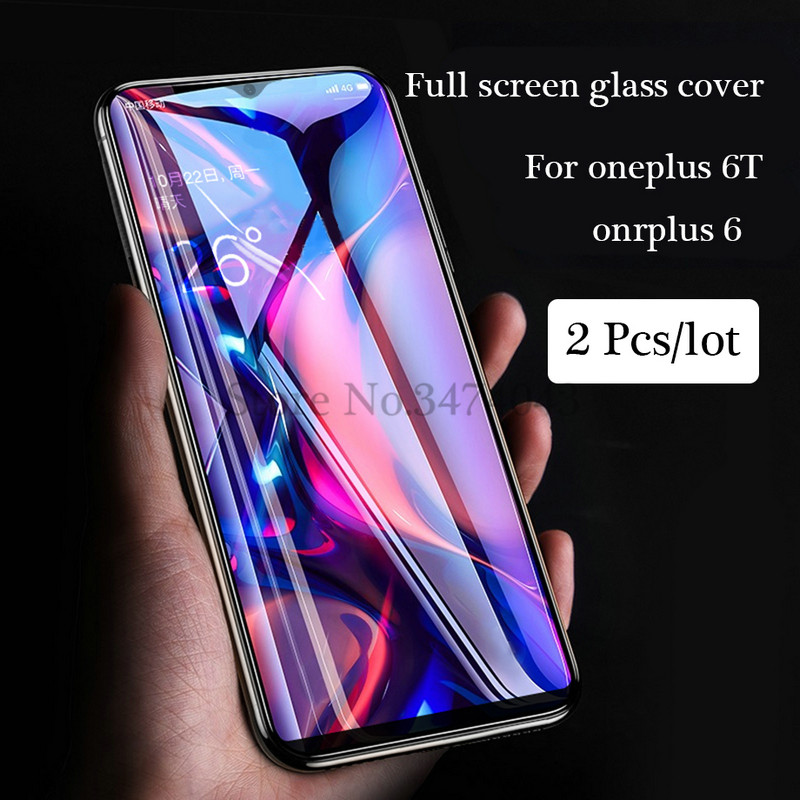 Image 4 - 2Pcs/lot 9H Tempered Glass for Oneplus 6 6T Screen Protector Full Cover Glass For Oneplus 6 T 6T Oneplus6 Protective Film Glass-in Phone Screen Protectors from Cellphones & Telecommunications on