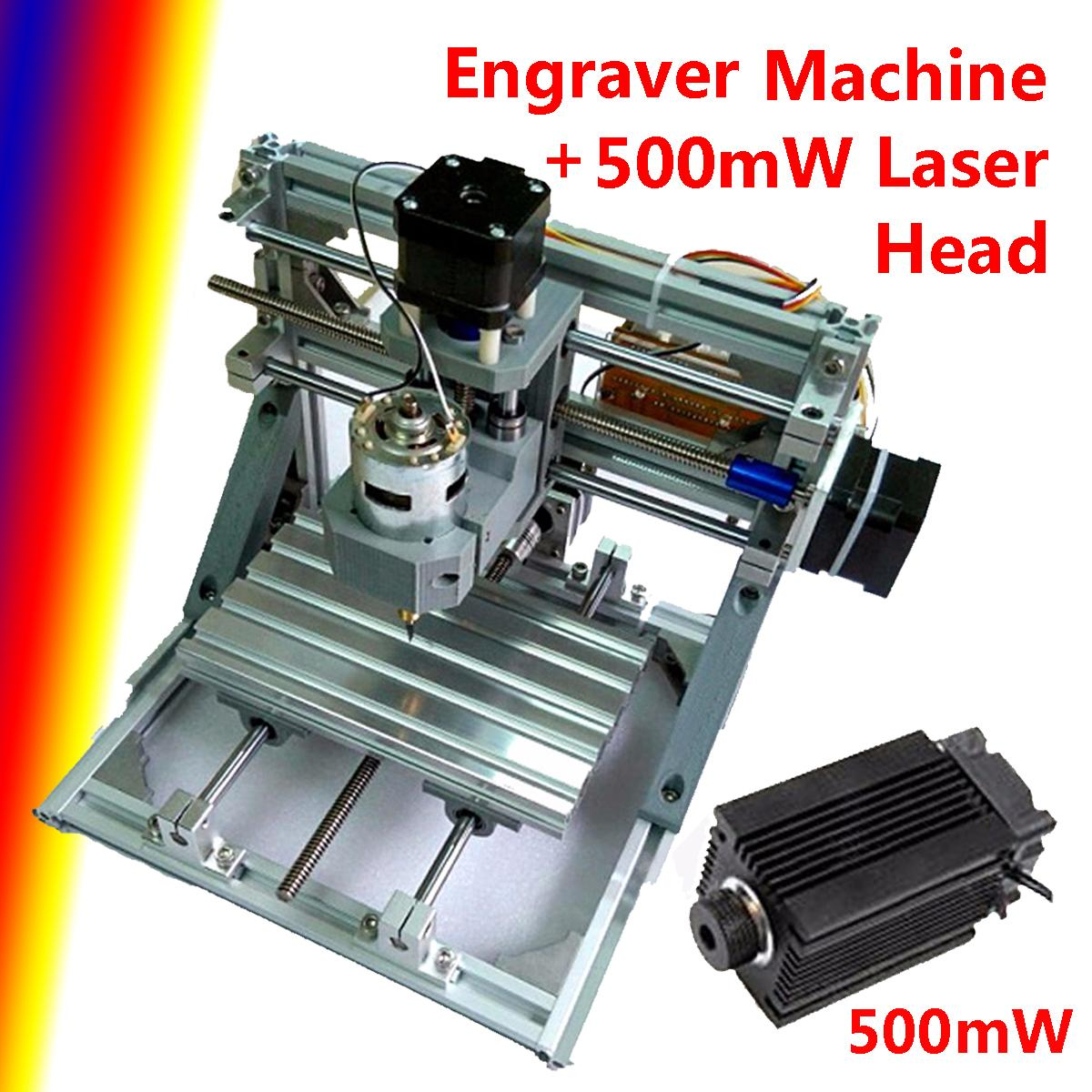 DIY CNC Engraving Machine 3 Axis Engraver Milling Wood Carving + 500MW Laser Head Working Area 160 X 105 X 30mm laser head owx8060 owy8075 onp8170