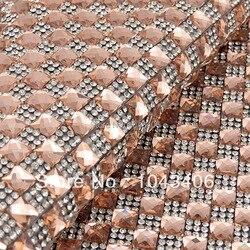 Livraison gratuite, motif hotfix 24*40, nouvelle décoration de téléphone portable, perles de verre et feuille de strass claire