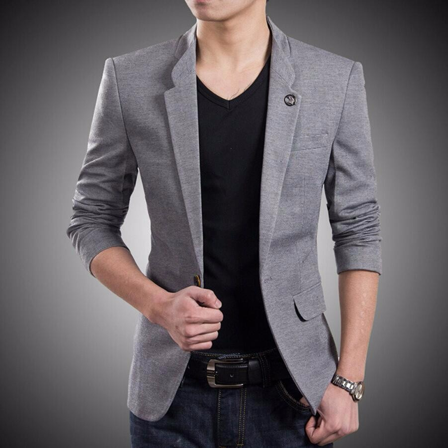 23.1 Blazer New style custom One Button Suit Jacket Korean Style high Quality Slim Fit Man Jacket formal occasion man jacket