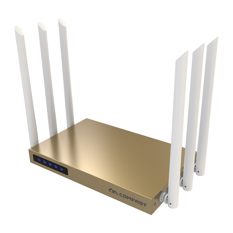 COMFAST 750mbps high power router 11AC wifi access point 6*6dBi antenna 600 square meters coverage wireless router CF-WR635AC comfast full gigabit core gateway ac gateway controller mt7621 wifi project manager with 4 1000mbps wan lan port 880mhz cf ac200