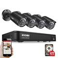 Zosi 4ch cctv sistema de 4 canais 720 p dvr 4 pcs kits de vigilância 1200tvl ir sistema de câmera de segurança em casa