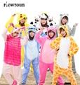 NEW Adult Pajamas Cosplay Cartoon Animal Onesie Sleepwear Koala Dinosaurs Cow Totoro Owl Pikachu Frog Shark Free Shipping