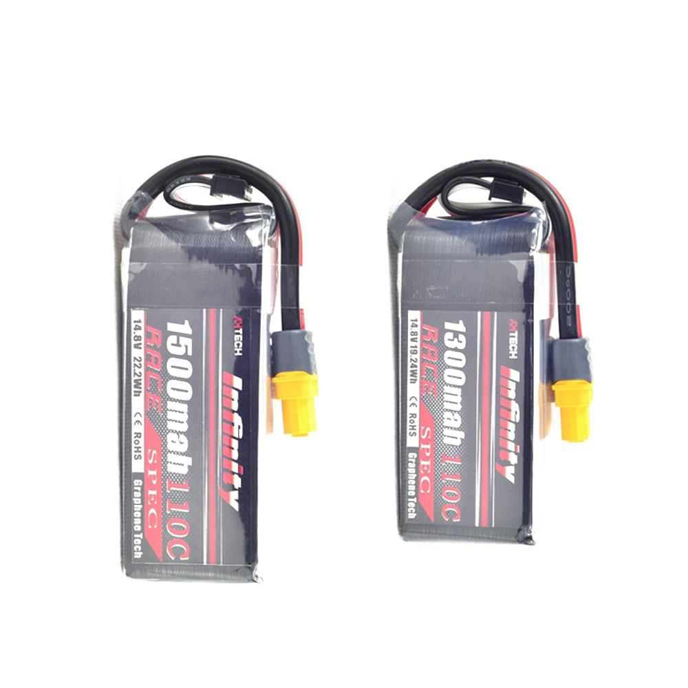все цены на 1pcs Infinity 14.8V 1300mah / 1500mah 110C 4S1P Race Spec Lipo Battery for RC FPV Racing Drone Quadcopter Helicopter