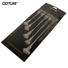 Goture 60/100pcs Fishing Line With Fishhook Swivel Snap Steel Wire Leader Trace Lures Leash Spinning Expert(China)
