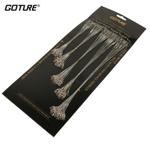 Goture 100Pcs Fishing Line With Fishhook Trace Wire Leader Swivel Snap Fishing Trace Lures Leash Spinning Expert