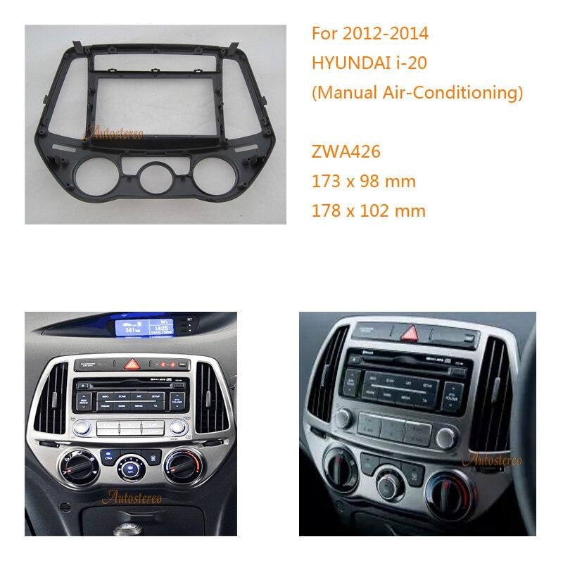 dash kit face plate radio mount install facia Fascia for Hyundai i-20 i20 2014