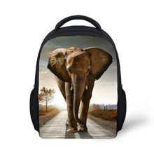 Lightweight Children 3D School bag Kids School Bag princess school bag Eco- Friendly fabric backpack animal elephant prints bag 6574379990945