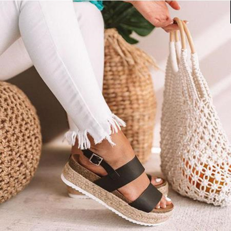 2019 Sommer Mode Frauen Sandalen Plattform Keile Schuhe High Heels Sandalen 2019 Flip Flop Chaussures Femme Plattformen Alias