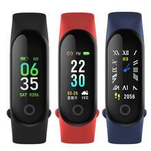 M3S/M3C зарядка через usb Цвет Экран смарт-браслет на запястье с Bluetooth IP67 Водонепроницаемый сердечного ритма крови Давление монитор наблюдения за сном