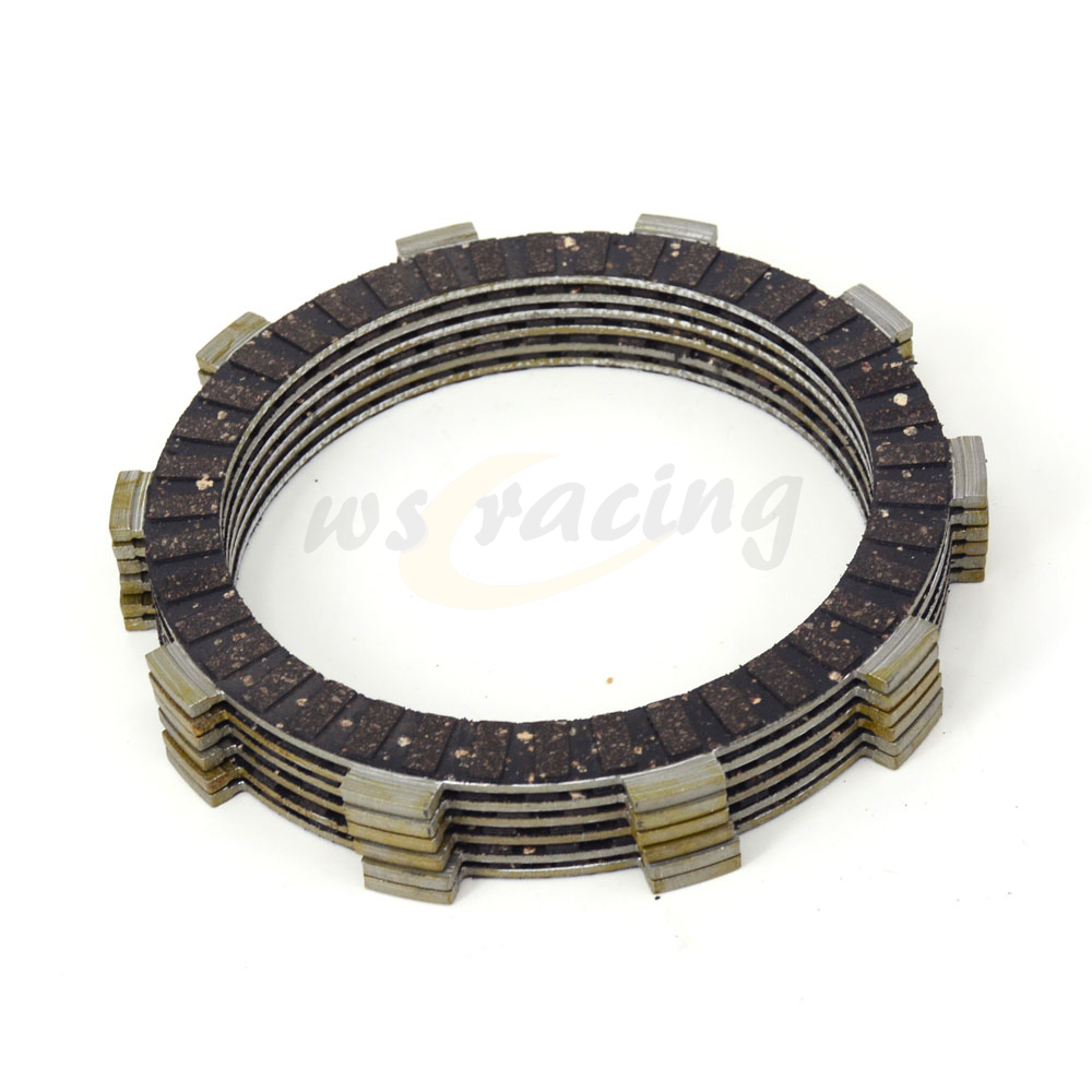 6 Pcs Motorcycle Engine Parts Clutch Friction Plates Fit For HONDA CR125R  MTX200RW NX250 TRX250X XR250 XR250III XR250L XR250R