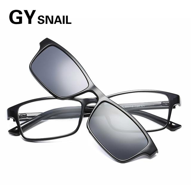 391b70425e0 GYsnai magnet clip Sunglasses Men Polarized Sunglass Women Mirrors Coating  Magnetic Clip on Frame Eyewear Male