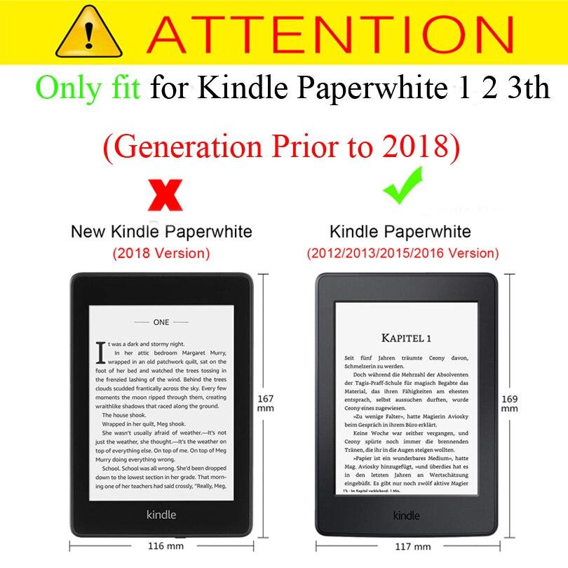 Amazon Kindle Paperwhite üçün Ultra İncə Qapaq Qutusu 1 2 3th 6 - Planşet aksesuarları - Fotoqrafiya 2