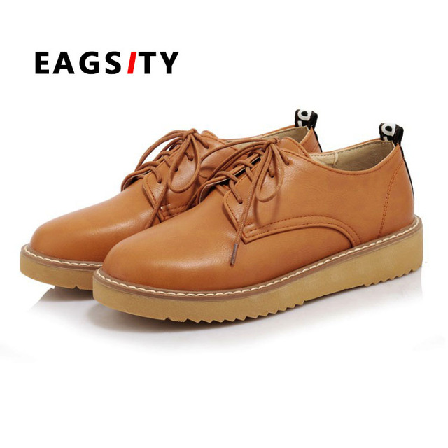 Zapatos marrones de punta redonda oficinas para mujer pheAG