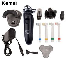 220V 4 in 1 Men's Electric Shaver Beard Razors Waterproof Barbeador Rechargeable Shavers Nose Trimmer Hair Clipper Men Face Care