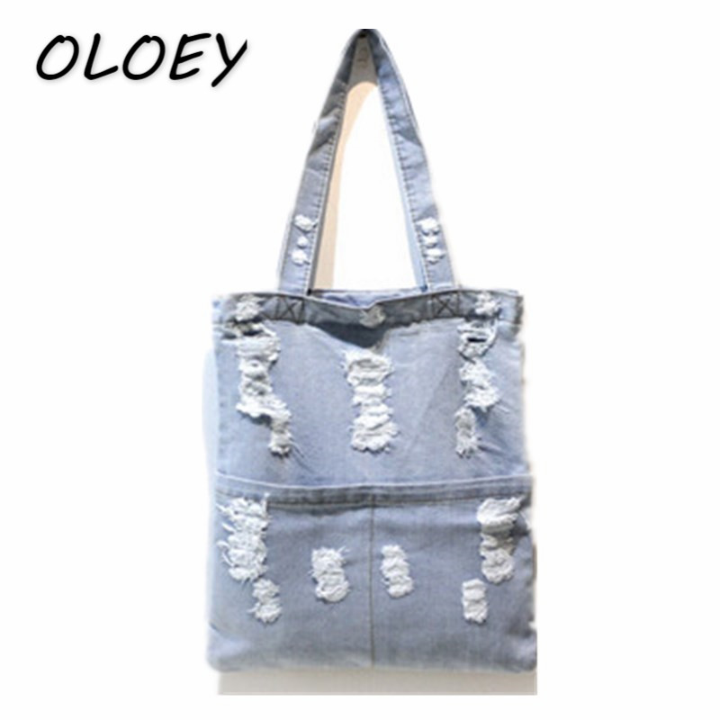 Detail Feedback Questions about Women Ripped Jeans Shoudler Bag Denim Cloth  Girls Granny Chic Style Female Lady Casual Tote Canvas Bag  on  Aliexpress.com ... 856a631e16600