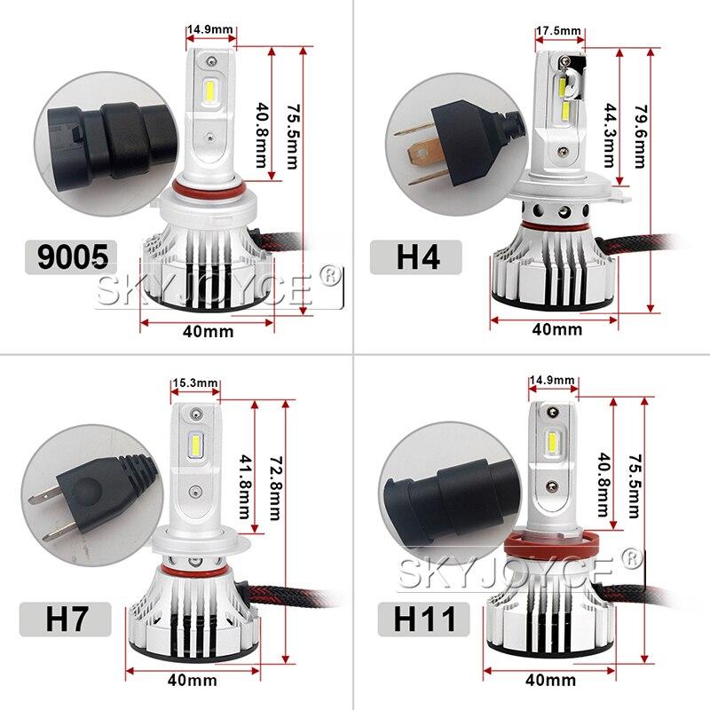 1 Set Car LED Headlight Kit F2 H4 H7 H1 H11 HB3 9005 HB4 9006 LED Bulb 72W 12000LM CSP Chips Turbo Fan 6500K Auto Headlamp Bulbs (26)