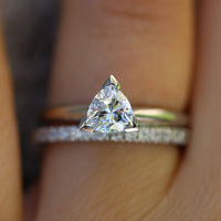 1ctw 5 мм круглые бриллиантовые огранки DEF VVS1 обручальное кольцо набор твердых 14 К белого золота Halo Fow женщин красивые украшения 2 шт