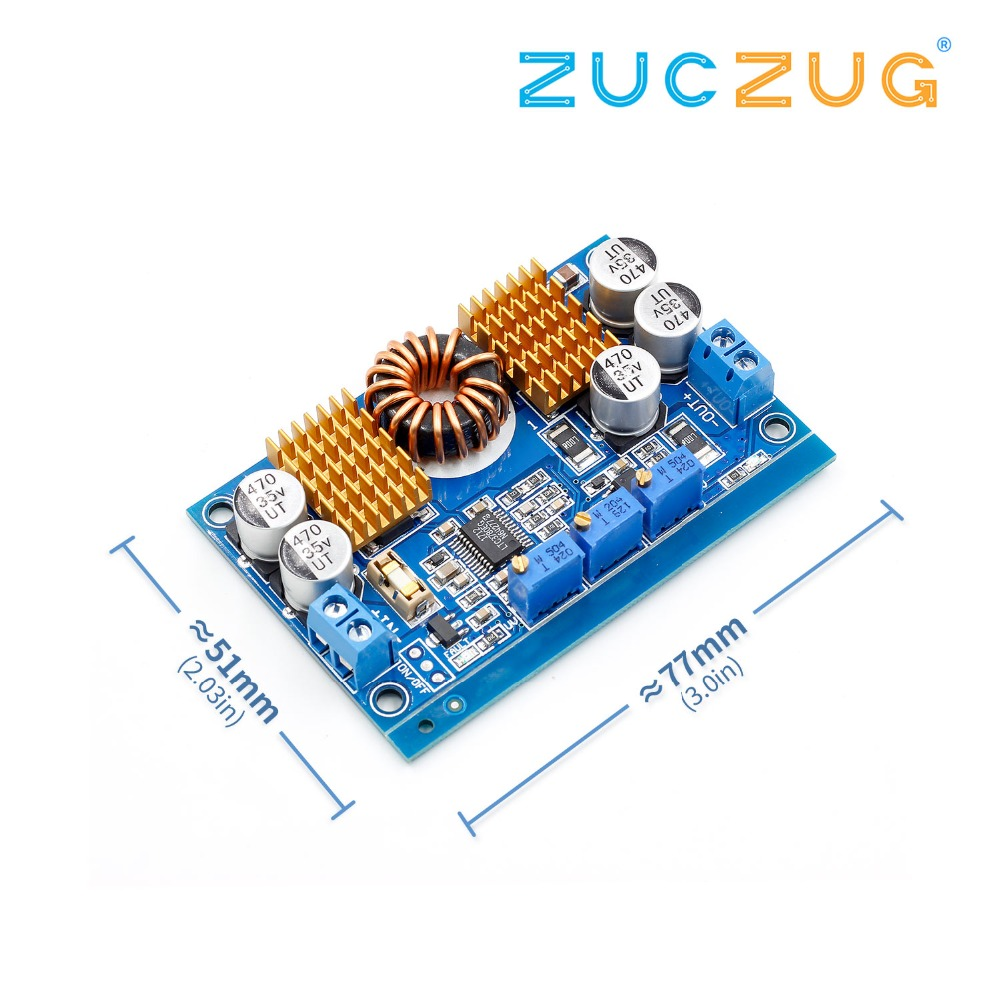 LTC3780 DC-DC 5-32V To 1V-30V 10A Automatic Step Up Down Regulator Charging Module