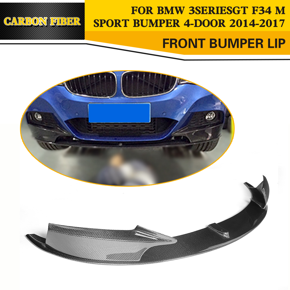 Carbon Fiber Auto Front Lip Spoiler Car Styling for BMW 3 Series GT F34 M Sport