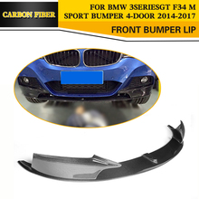 Carbon Fiber Auto Front Lip Spoiler Car-Styling for BMW 3 Series GT F34 M Sport Bumper 4-Door 2014-2017