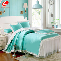 Lifeng home Ruffles Lace bed skirt bedding set Korean style duvet cover with reffles twin girls bedclothes princess bed linens