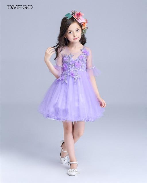 3fe2389cfaa Maggie new spring and summer children s purple costume kindergarten  graduation dress girl princess princess dress