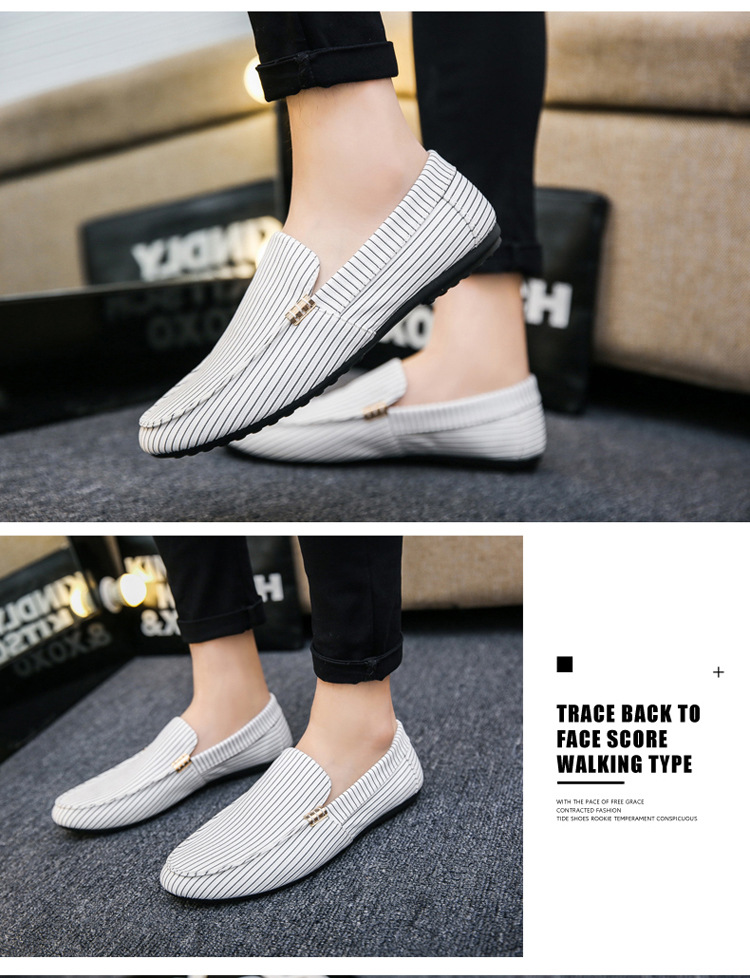 Spring Summer Mens Loafers Plus Size Lightweight Comfortable Flat Casual Shoes Men Breathable Slip on Soft Leather Driving Shoes