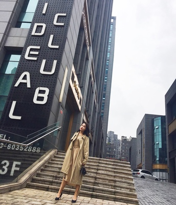 Spring And Autumn Women Fashion Brand Korea Style Waist Belt Loose Khaki Color Trench Female Casual Elegant Soft Long Coat Cloth 73