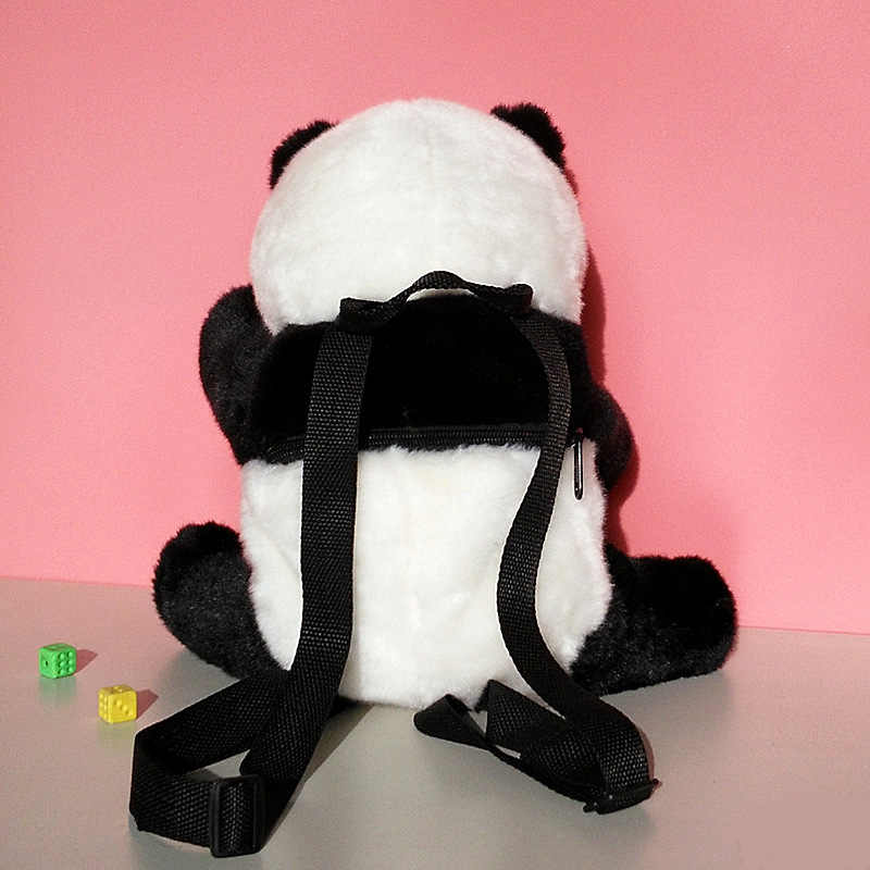 Cute Animals Plush Backpacks Simulation Panda Schoolbag Kids Girl Lovely Plush Toys Animal Panda Simulate Backpacks For Children